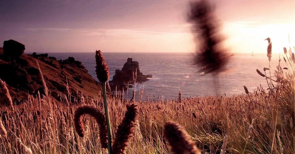 "zonsondergang aan zee, ""Land's End"""