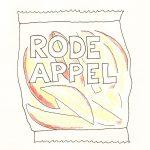 gemakzucht - een plastic zakje met voorgesneden stukjes appel erin