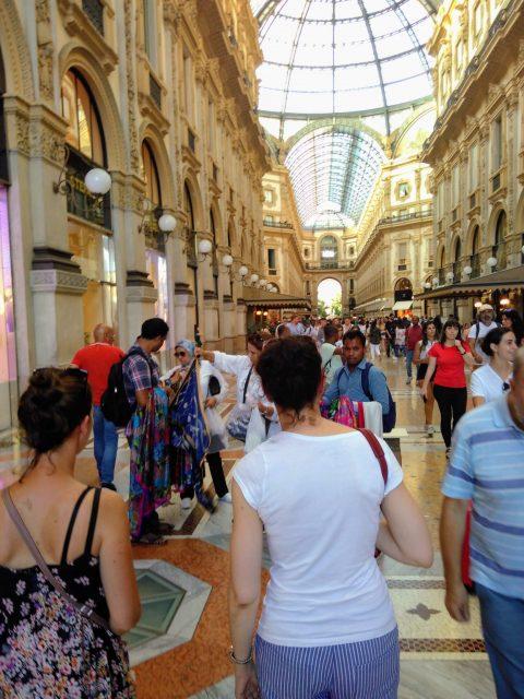 een galerij in Milaan