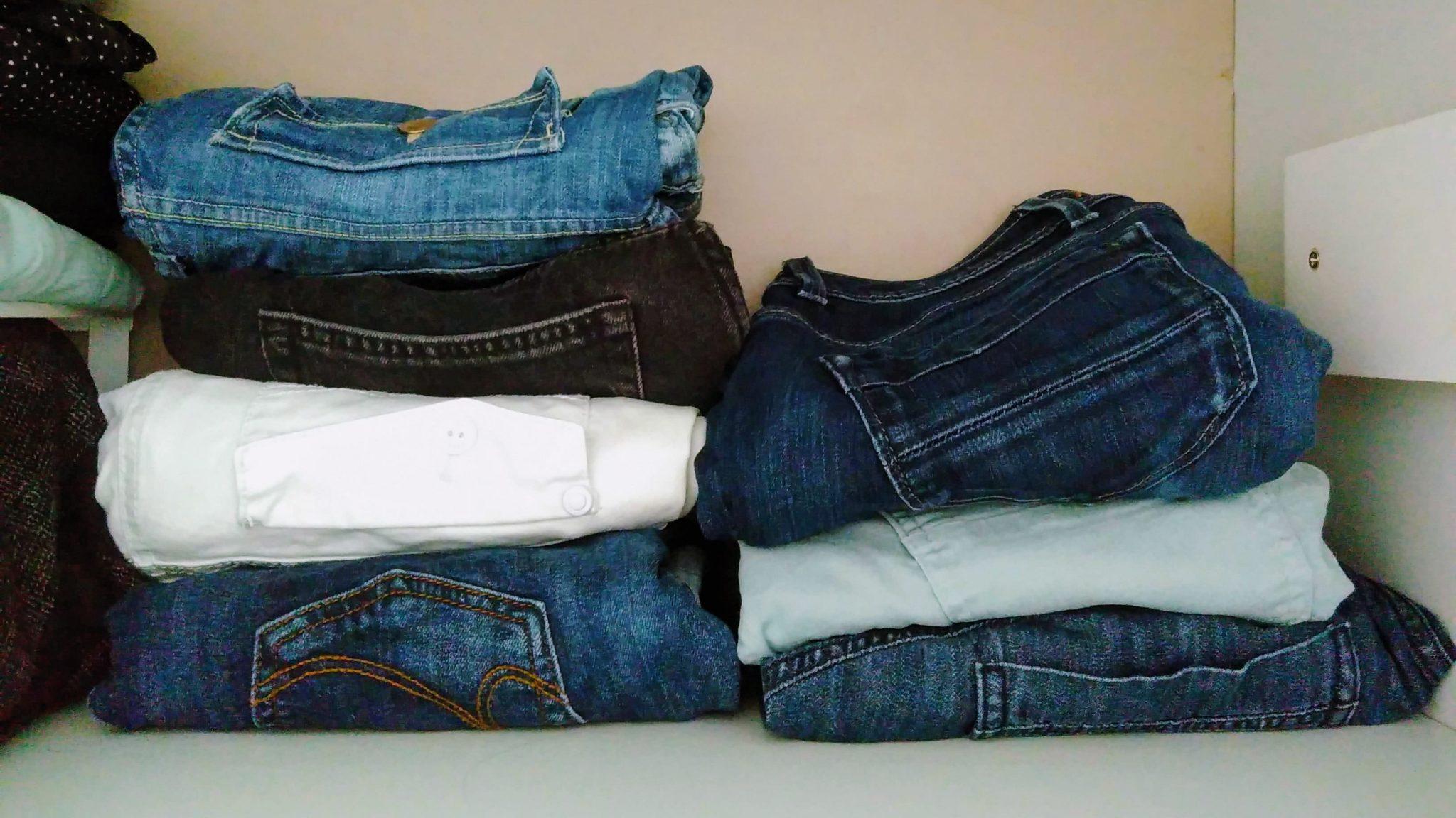 de (jeans)broeken in mijn kledingkast