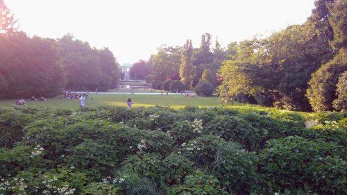 het park vlakbij Castello Sforzesco in Milaan