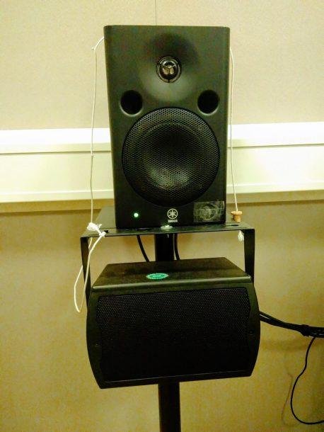 de geluidsboxen van de audioloog