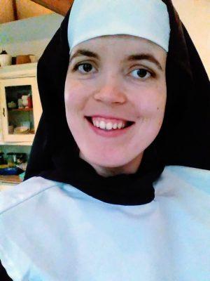 een selfie van mezelf verkleed als non