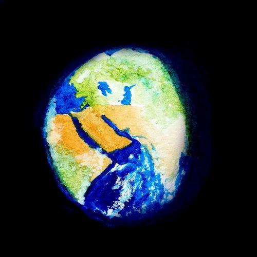 de wereld vanuit de ruimte